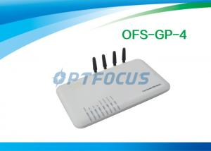 China Two port 4 Channel VOIP GSM Gateway 10 / 100 Base-T Ethernet SIP SIM Card 1 year warranty on sale