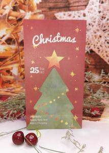 China Recycled Paper Bag Christmas Crafts  Square Bottom Christams Tree Print on sale