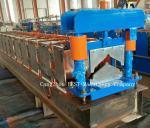SQ-Top Ridges Cap Roll Forming Machine 8-12m/Min Speed PLC Control Machine