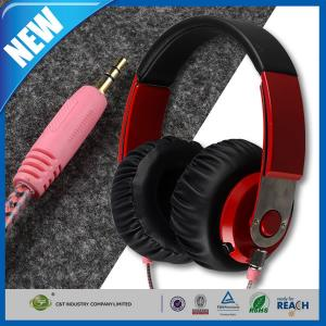 China Lightweght Wire Over-Ear HD Stereo Headset , Soft Leather Ear Cups on sale