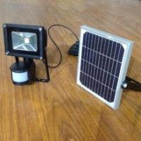 China Powerful 10W 20W Solar Rechargeable LED Flood light with PIR Sensor on sale
