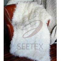 China Mongolian lamb faux fur throw on sale