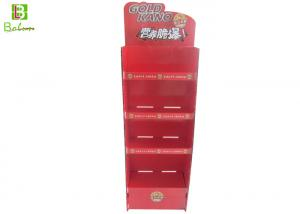 China 4 Tiers Cardboard Counter Display , Promotional Cardboard Display Shelves on sale