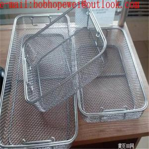 China Medical supplies Surgical operation Sterilization Basket(Surgical Instrument)/surgical wire mesh baskets from factory on sale