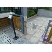China RFID / IR Sensor Cylinder pedestrian barrier gate For Residential Community on sale