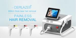 China Beauty Salon 808nm Diode Laser Hair Removal Device For Tanned Skin on sale