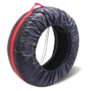 China tyre cover storage bags polyester tire bag for car,Diameter Foldable Spare Waterproof Tire Covers Protection bag on sale