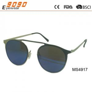 China New arrival and hot sale of metal sunglasses, UV 400 Protection Lens on sale