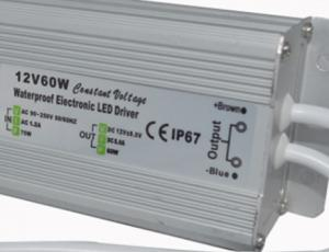 China Customized Dimmable Outdoor LED Power Supply 12V DC 60 Watt LED Transformer on sale