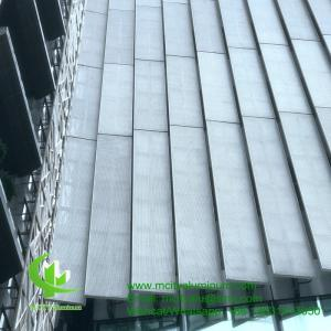 China FOSHAN PVDF  Aluminum Facade Panels Non Standard  , Building Exterior Corrugated Aluminium Cladding on sale