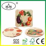 China Custom Printed Wooden / Bamboo Meal Mat as Home Decoration