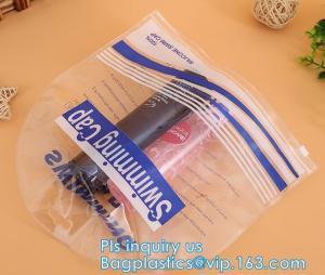 China Cosmetic Ziplock clear bubble bags/Hot sale Slider Zipper Bag, slider hook hanging zipper bag, Slider Zipper PVC Pencil on sale
