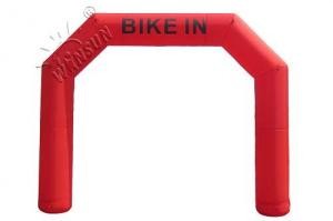 China Start / Finish Line Blow Up Arch , 0.9mm PVC Material Inflatable Gantry on sale