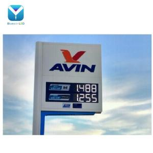 Gas station design red outdoor 4 digits gas price led signs led