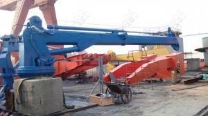 China Telescopic Used Hydraulic Marine Crane Design for sale Marine Ship Deck Crane on sale