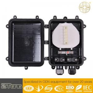 China External Fiber Optic Connection Box , Aerial Fosc Closure With 2 Round Ports on sale