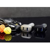 18W Custom Black QC 2.0 Car Charger , Fast USB Car Charger Adapter