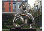 Large Modern Stainless Steel Outdoor Sculpture Mirror Polished Metal Garden Ornaments