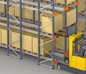 China High Accessing Rate Pallet Shuttle Racking Capacity Massive With 24 Hours Auto Working on sale