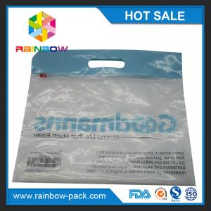 China PE  slider ziplock bag with logo stand up bag clear front  zip lock bags with upc code printed ziplock bag clear front on sale