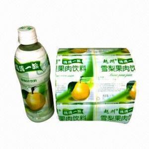China La película de encogimiento del PVC para la bebida etiqueta el embalaje con el grueso de 0,02 a de 0.1m m, QS-certificado on sale
