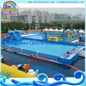 China Newest Water Inflatable Swimming Pool Steel Frame Pool Forwater Park on sale