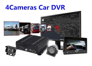 China IOS Android Real Time Monitoring 4 Camera Car SD Card Digital Video Recorder on sale