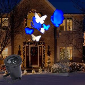 China 4 Pattern Moving LED Laser Light for Landscape House Outdoor Christmas Garden on sale