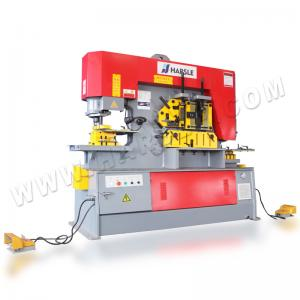 China High Efficiency Metal Iron Worker Hydraulic Ironworkers With Double Cylinder Machine on sale