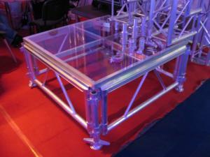 China Transparent Glass Portable Stage Platform Movable Adjustable Size For Outdoor Concert on sale