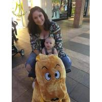 China Hansel outdoor playground safari rides for mall unicorn plush animal stuffed motorcycle toy on sale