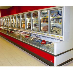 Combination Freezer With Glass Door , 1600w Commercial Display Energy Efficiency Cooler
