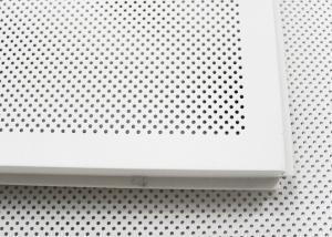 600 X 600 Acoustic Ceiling Tiles Aluminum Perforated Metal