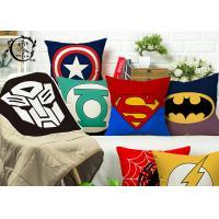 Marvel Heros Canvas Silk Cotton Decorative Cushions Pillows Zipper Hulk Captain America For Home