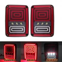 Pair Snake Style Jeep Wrangler Tail Lights with Brake Turn Reverse Lamp Back Up Rear Light for Jeep JK 2007-2016