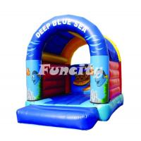 Deep Blue Sea Inflatable Jumping Castle Toddler Inflatable Bouncer With Dome Roof