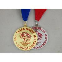 Brass Stamped Hard Enamel Karate Medals , Customized Swimming Awards Taekwondo Medals