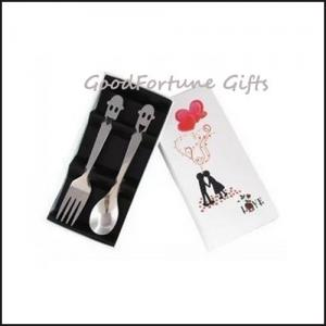 China Stainless steel Wedding gift set spoon and fork souvenir gift on sale