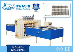 China 6 head Automatic Condenser Wire Mesh Spot Welding Machine With DC Welding on sale