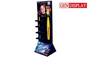 China Black Yellow Custom Pop Displays , Corrugated Pop Displays For Cosmetic on sale