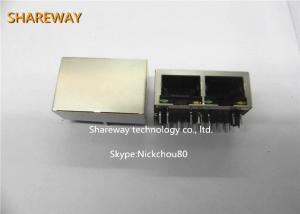 China RJ45 100base TX Connector Tab Up JG0-0031NL Meets IEEE 802.3 Specification on sale