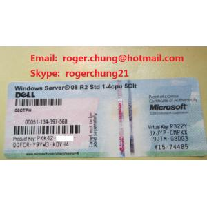 China Genuine Original  Free shipping Windows Server 2008 R2 Standard COA  Sticker x15 on sale