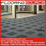Estera resistente de la entrada de la estera del raspador de la alfombra de la teja del edificio que entrelaza del suelo al aire libre de la entrada