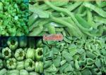 有機性凍らせていたピーマン/新しい凍らせていたさいの目に切られた緑のトウガラシ