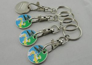 China Zinc Alloy, Aluminum, Iron Rabbit Trolley Coin with Key Chain, One Euro Coin on sale