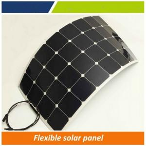 China 30 degree bendable solar panel, semi flexible solar panel 100w for boat, golf car, etc on sale
