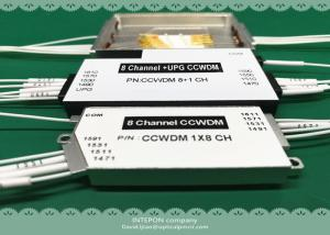 China CCWDM, mux/demux, 18CH, 2.0dB  insertion loss, 20nm channel spacing, 55x45x8mm ABS box. on sale