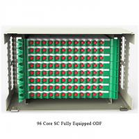 China 96 Cores Optical Fiber Distribution Frame Pre Assembled Rack Mounted ODF on sale