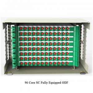 China 96 Cores Optical Fiber Distribution Frame Pre Assembled Rack Mounted ODF on sale