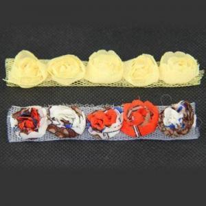 China Shabby Rose Flower Trims, Fraying Rosettes, Made of Chiffon? on sale